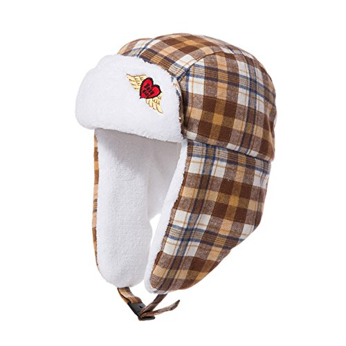 Childrens hats/Baby Hat/Thickened lamb wearing/Lei Feng Cap/Ear-warm hat-C