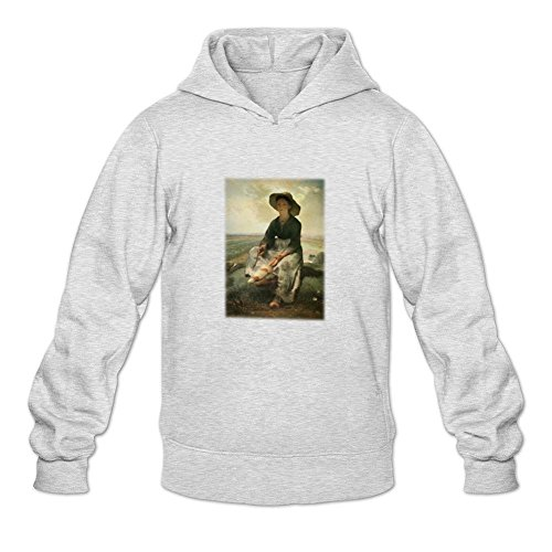 reder-mens-jean-francois-millet-young-shepherdess-sweatshirt-hoodie-xxl-light-grey