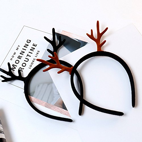 Day Han Xiaoqing new Mori female line antlers headband hair bands bangs head ornaments Korean hair accessories hairpin hair ornaments for Chrisas for women girl lady Generic