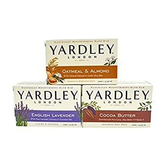 Yardley Londres jabón baño bar Bundle - 3 bares: Manteca de Cacao ...