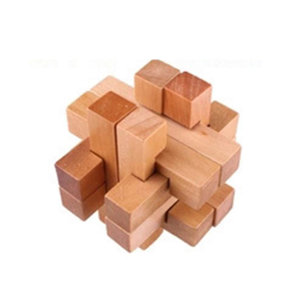 JIAAE Classical Puzzle Treasure in The Cage Children Intelligence Environmentally Friendly Wood Unlock Toy