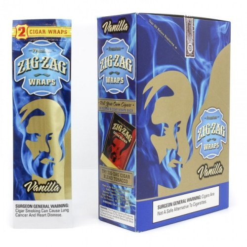 ZIG ZAG CIGAR WRAPS 2 PER PACK VANILLA FLAVOR PACK OF 25