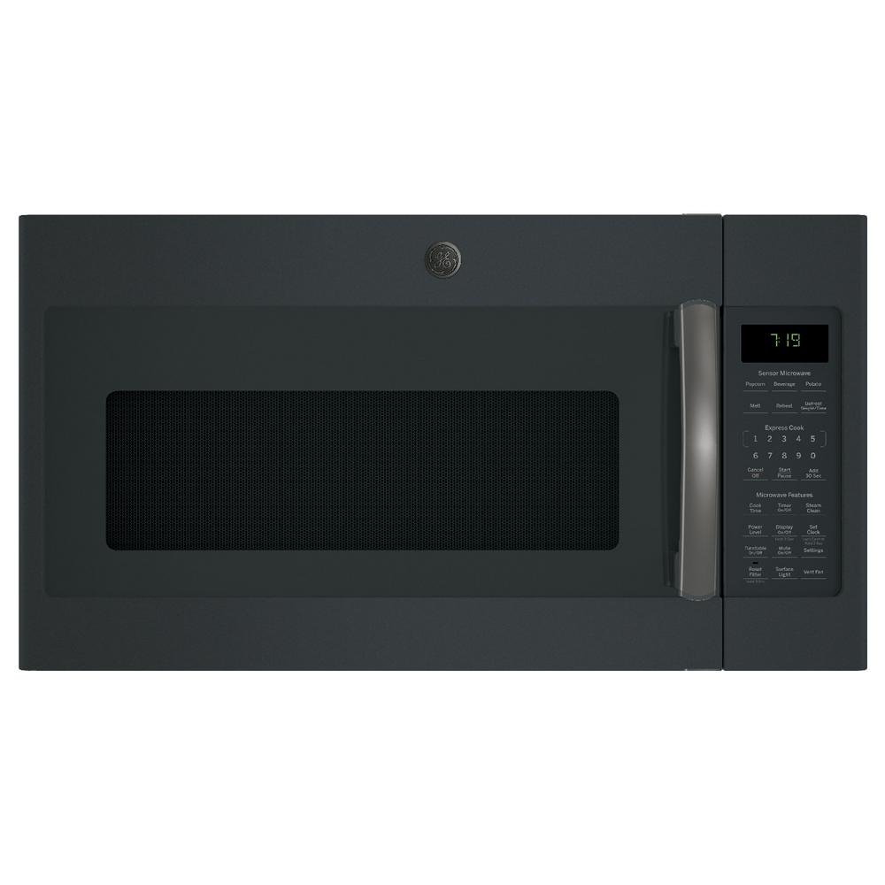 GE Profile Black Slate Over-The-Range Microwave Oven