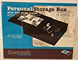 Keepsafe Personal Wooden Storage Box with Photo Frame 7''x 6'' Black