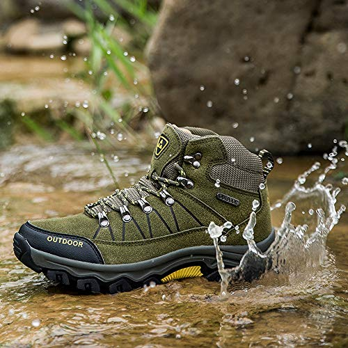 Beige Outdoor Fitnessschuhe Armee Bequeme Burgundy Rot Herren HARRYSTORE Schuhe up Lace Stoff Barfußschuhe Lauf Creme Grüne Bergsteigen Freizeitschuhe xqvRqA6