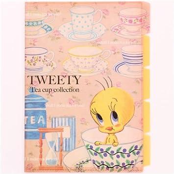 Carpeta archivadora Piolín pájaro taza té 5 apartados A4: Amazon.es: Oficina y papelería