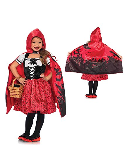 Leg Avenue Enchanted Storybook Riding Hood Costume (2 Piece), Red, Small (Cute Halloween Costumes For Two Kids)