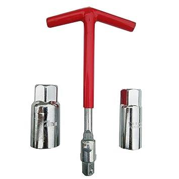 1 llave de bujía con mango en T, llaves de 16 mm y 21 mm para la ...