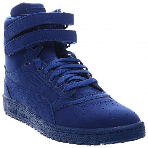Puma Sky II Hi Mono NBK Mens Blue Nubuck High Top Lace Up Sneakers Shoes (High Top Puma Sneakers)
