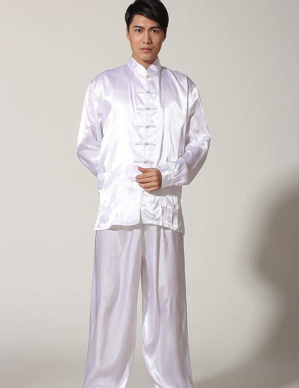 amilses Conjunto de Pijamas de Estilo Chino para Hombres Camisa de Manga Larga Casual Conjunto de Pantalones Largos Pijamas