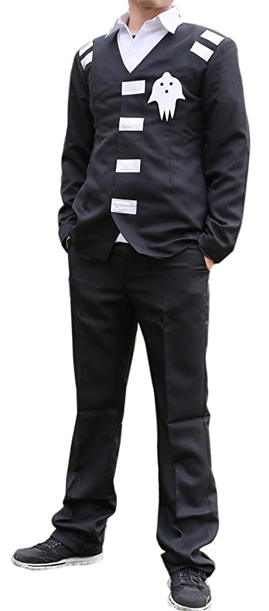 Muerte The Kid disfraz trajes traje negro para Soul Eater Cosplay ...