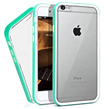 iPhone 6 Plus Case, MagicMobile® Protective Slim Design Clear Crystal Case for Apple iPhone 6 Plus Transparent TPU Hard Flexible Impact Resistant Case for iPhone 6 Plus with Turquoise [Bumper Frame]