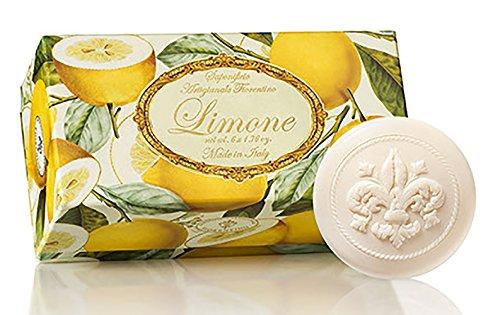 1.76 Ounce Soap - Saponificio Artigianale Fiorentino Limone (Lemon) Set Of 6-1.76 Oz Round Soaps From Italy