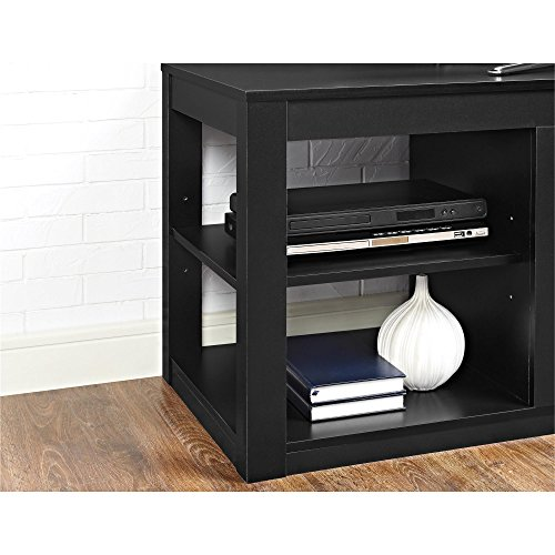 Ameriwood Home Parsons Electric Fireplace TV Stand for TVs up to 65, Black