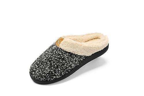 Zapatilla de Estar por Casa Mujer Hombre Invierno Calido Algodón Zapatillas Cómodas Suave Flat Slipper Zapatillas de casa Ultraligero cómodo y ...