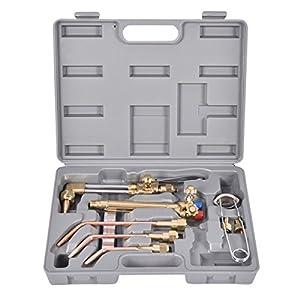 Goplus 10 PCS Oxygen & Acetylene Welding & Cutting Torch Kit Welder Tool Set w/ Case