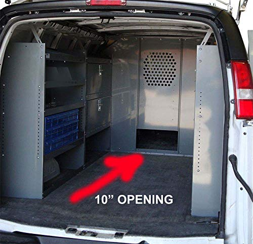 (Van Safety Partition, Bulkhead/Divider with 10 inch Opening at Floor Level Ford Econoline)