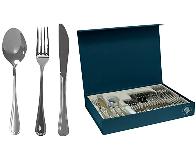 Magefesa 01CU610024P Cordoba Stainless Steel Flatware / Silverware Set, 24 Pieces by Magefesa: Amazon.es: Hogar