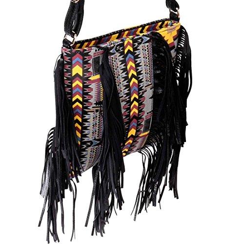 Tribal Main Mode Vif Gland Femmes Sac Fin À Motif Pochette Noir Accent BMC EHf1wqxZ