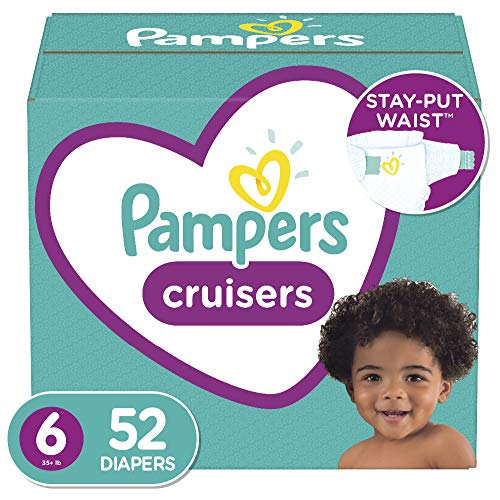 Diapers Size 6, 52 Count – Pampers Cruisers Disposable Baby Diapers, Super Pack (Packaging May Vary)