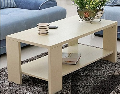 Square Coffee Table Home Living Room Office table Modern Furniture (Large, white maple color) - Maple Modern Coffee Table
