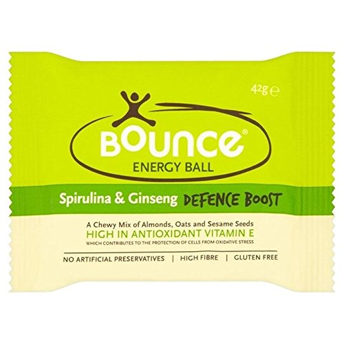 Bounce Spirulina Ginseng Protein Boost Ball 42g - Pack of 6 by Bounce