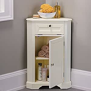 weatherby bathroom corner storage cabinet cream