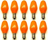 CEC Industries 7C7 CO 120V (Orange) Bulbs 120 V 7 W E12 Base C-7 shape (Box of 10)