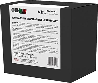 100 Nespresso compatible Italian Expresso capsules