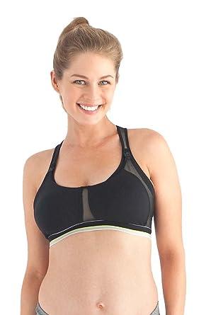 9276b488bd Belabumbum Ultrasmooth Maternity Nursing Sports Bra - Black - Small(34-36 B