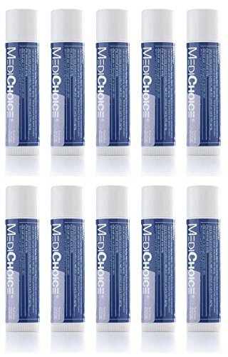MediChoice Lip Balm with SPF 15, Moisturizer Nourish and Hydrate 0.15 oz each 10 Tube Value (0.15 Ounce Tubes Pack)