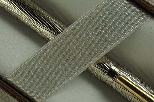 Cross Made in the USA Century Classic Platinum Deco Jeweler' Spiral Diamond Cut and 22KT Appointment Gold Pen . Made in Lincoln , USA by A.T. Cross