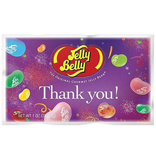Jelly Belly Gold Stripe Thank You Assorted, 1-Ounce Bags (Each)