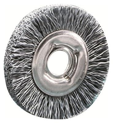 "SAIT 04110 3"" x 5/8 Arbor 80 Grit Large Diameter Angle Grinder Nylon Abrasive Brush"