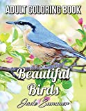Beautiful Birds: An Adult Coloring Book with 50 Relaxing Images of Peacocks, Hummingbirds, Parrots, Flamingos, Robins, Eagles, Owls, and More!