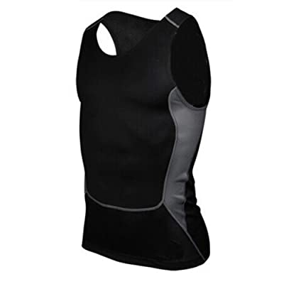 Edal Mens Sport Shirt Skin Body Armour Compression Wear Base Layer Vest Tank Top