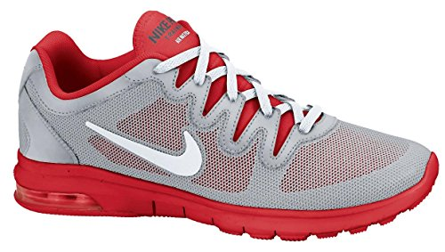 Nike Womens Air Max Fusion Lupo Grigio / Puro Platino / Rosso Sport
