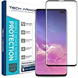 Tech Armor Dura Glass Screen Protector Designed for Samsung Galaxy S10 Plus - Case-Friendly, Hybrid Glass, Ultra-Thin, Scratch and Impact Protection with Easy Installation Tool - [1-Pack]