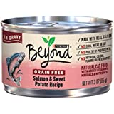 Purina Beyond Grain Free Salmon & Sweet Potato Recipe in Gravy Adult Wet Cat Food - Twelve (12) 3 oz. Cans