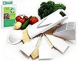Dynamic Chef Mandoline Slicer, 5 V blades, Fruit and Vegetable...