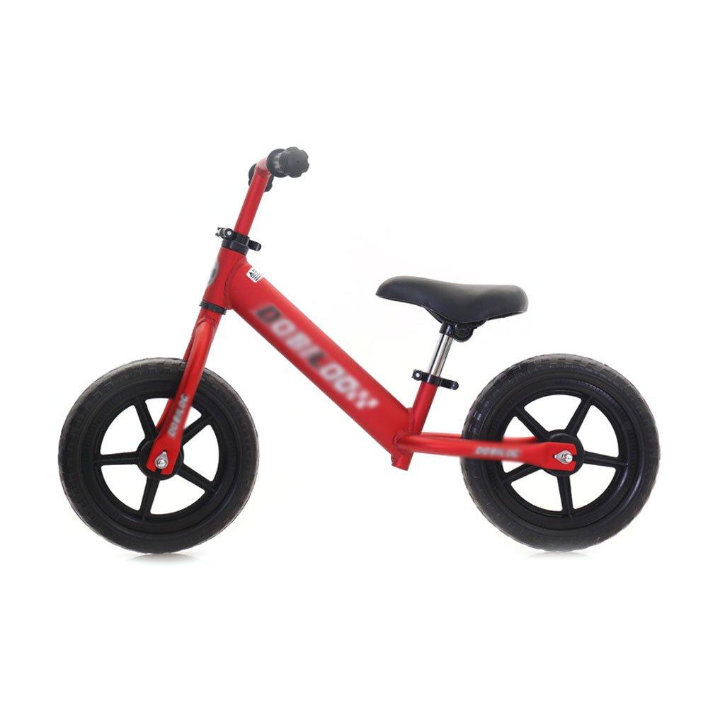 12インチのベビースクーターバランス車が必要インフレペダルがない子供スクーターバギー子供ダブルホイール自転車子供スクーター2ラウンドウォーカー2-6歳 B07F58K8T5 Red Red