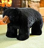 Black Bear Footstool
