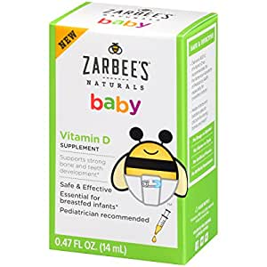 Amazon Com Zarbee S Naturals Baby Vitamin D Supplement 0