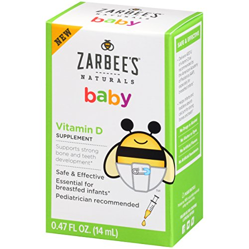 Zarbee's Naturals Baby Vitamin D Supplement, 0.47 Fl. Ounce