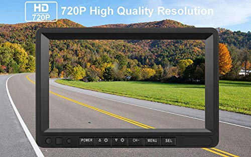 Emmako Digital Wireless Dual Backup Camera High-Speed Observation System For Truck/Trailer/RV 7'' Monitor Split Screen Kit IP69K Waterproof Night Vision Rear/Side/Front View Camera Driving/Reversing by Emmako (Image #3)