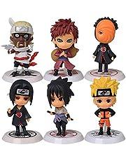 Bonecos Naruto Kit Action Figure 6 Personagens Itachi Sasuke