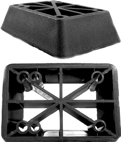 New Set of 2 Longboard 1'' Riser Pads for Longboard Truck Risers Black by Everland