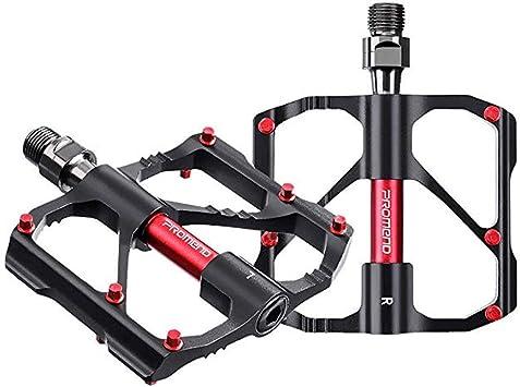 Adsvtech Pedales de Bicicleta, Pedal Bicicleta Montaña, Aluminio Antideslizante Pedales Ciclismo Durable, Ligeros, MTB BMX Road Bicycle 9/16 Pulgadas: Amazon.es: Deportes y aire libre