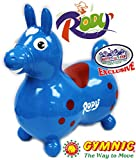 Gymnic Rody Horse Inflatable Bounce & Ride, ''Matty's Toy Stop'' Exclusive Blue & Red (7024)