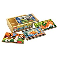 Melissa & Doug Wooden Jigsaw Puzzles in a Box - Pets